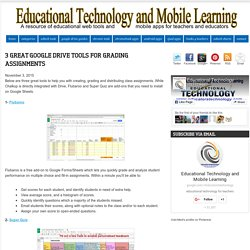 Educational Technology and Mobile Learning: 3 Great Google Drive Tools for Grading Assignments