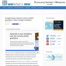 Google lanza nuevos cursos online gratuitos sobre Google Analytics