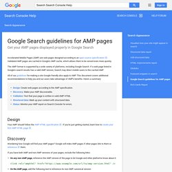 Google Search guidelines for AMP pages - Search Console Help