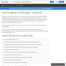 Nya Google+ Hangouts - Google Apps Administrator Hjälp