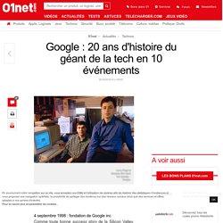 Google : 20 ans d'histoire du géant de la tech en 10 événements
