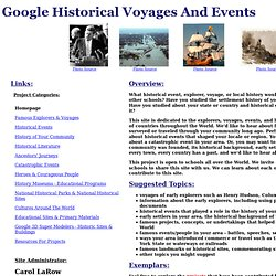 Google Historical Voyages and Historical Events