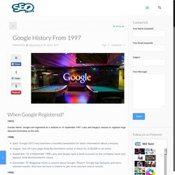 Complete History Of Google