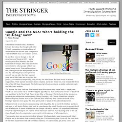 Google and the NSA: Who's holding the 'shit-bag' now?