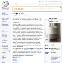 Google Home - Wikipedia