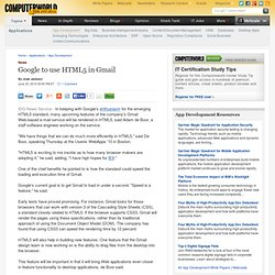 Google to use HTML5 in Gmail