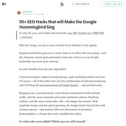 50+ SEO Hacks that will Make the Google Hummingbird Sing — ART + marketing