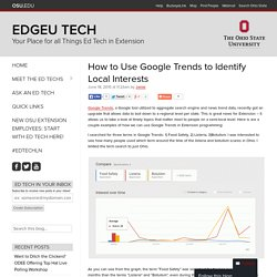 How to Use Google Trends to Identify Local Interests