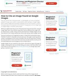 Citing an image-citationmachine