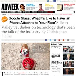 Google Glass: Imagine an iPhone Glued to Your Face
