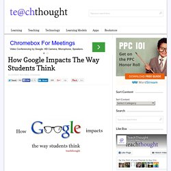 How Google Impacts The Way Students Think