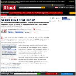 Google Cloud Print pour imprimer ses e-mails et ses documents depuis son mobile