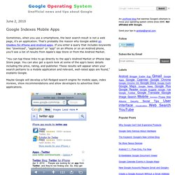 Google Indexes Mobile Apps
