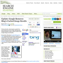 Google Indexing Bing's Cached Image Results