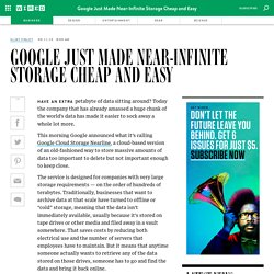 Google Just Made Near-Infinite Storage Cheap and Easy