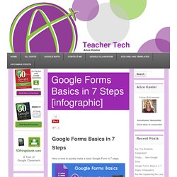 Google Forms Basics in 7 Steps [infographic] - Teacher Tech