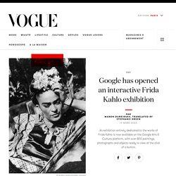 Google has opened an interactive Frida Kahlo exhibition