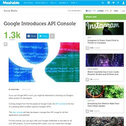Google Introduces API Console