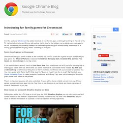 Introducing fun family games for Chromecast