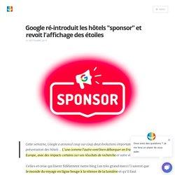 """Google ré-introduit les hôtels """"sponsor"""" - Blog elloha"""