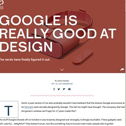Google is really good at design
