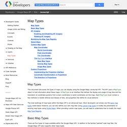 Map Types - Google Maps JavaScript API v3