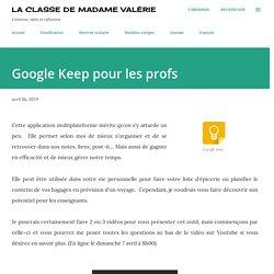 Google Keep pour les profs