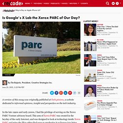 Is Google's X Lab the Xerox PARC of Our Day?
