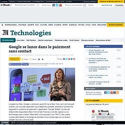 Google se lance dans le paiement sans contact