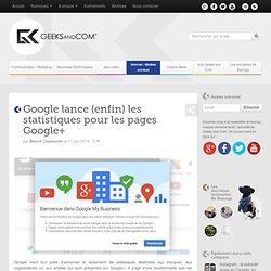 Google lance (enfin) les statistiques pour les pages Google+
