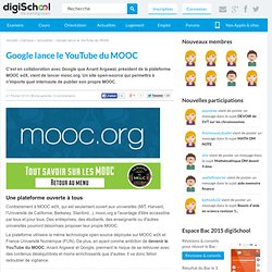 Google lance le YouTube du MOOC