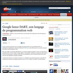 Google lance DART, son langage de programmation web