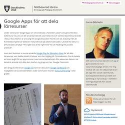 Google Apps för att dela lärresurser