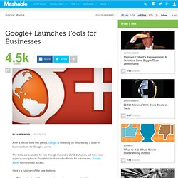 Google+ Launches Tools for Businesses