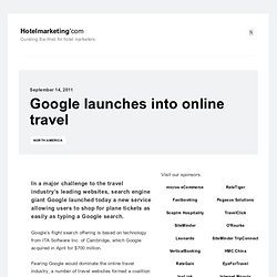 Google launches into online travel