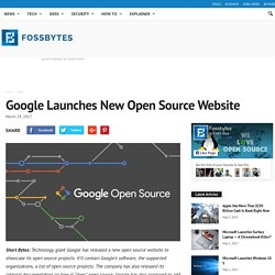 Google Launches New Open Source Website