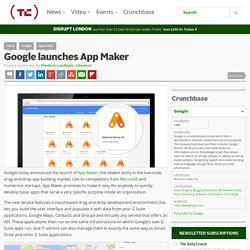 Google launches App Maker