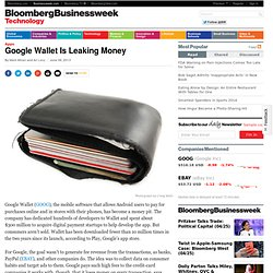 Google Wallet Is Leaking Money
