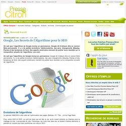 Google, Les Secrets de l'Algorithme pour le SEO