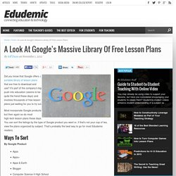 Google's Free Lesson Plans - A Look At Google's Massive Library Of Free Lesson Plans