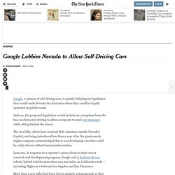 Google Lobbies Nevada to Allow Self-Driving Cars