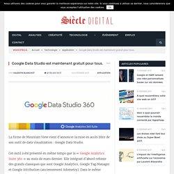 Google Data Studio est maintenant gratuit pour tous.