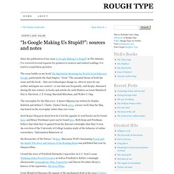 "Rough Type: Nicholas Carr's Blog: ""Is Google Making Us"