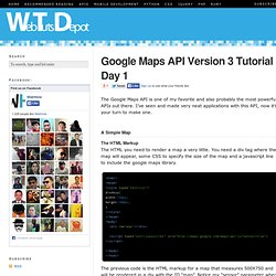 Google Maps API Tutorial Day 1