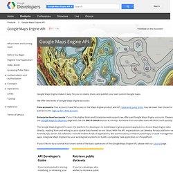Maps Engine API