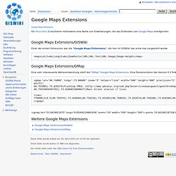Google Maps Extensions - GISWiki