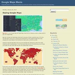 Styling Google Maps