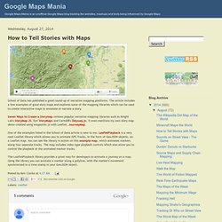 How to Tell Stories with Maps