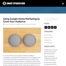 Using Google Home Marketing to Grow Your Audience