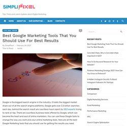 Top 7 Free Google Marketing Tools for Digital Marketing